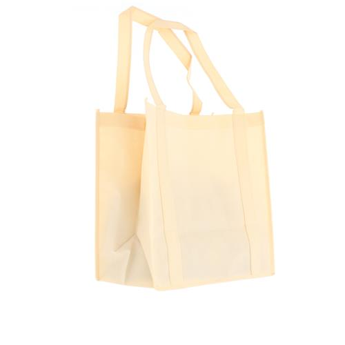 Wholesale ZNATURAL NONWOVEN PP BAG 12.5x13.75x8'' 100 GSM 22'' STRAPS