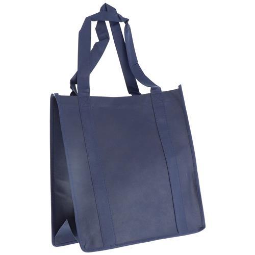Wholesale NAVY BLUE NONWOVEN PP BAG 12.5x13.75x8'' 100 GSM 22'' STRAPS
