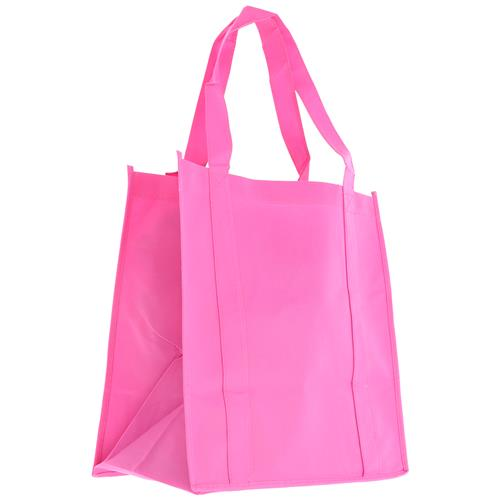 Wholesale PINK NONWOVEN PP BAG 12.5x13.75x8'' 100 GSM 22'' STRAPS