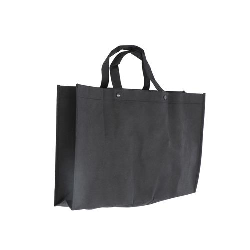 Wholesale BLACK NONWOVEN PP BAG 18x12x4'' 80 GSM 14'' STRAPS