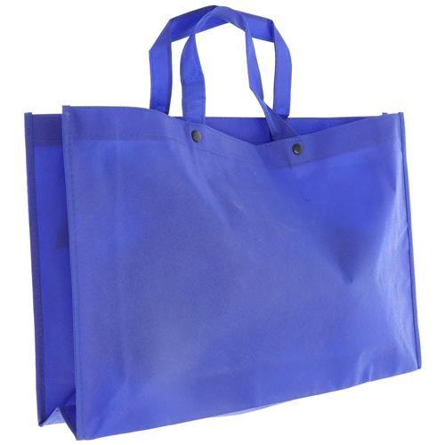 Wholesale BLUE NONWOVEN PP BAG 18x12x4'' 80 GSM 14'' STRAPS