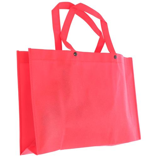 Wholesale RED NONWOVEN PP BAG 18x12x4'' 80 GSM 14'' STRAPS