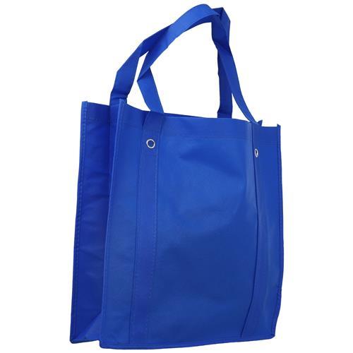 Wholesale BLUE NONWOVEN PP BAG 14x14x4'' 80 GSM 20'' STRAPS