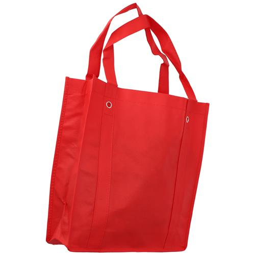 Wholesale RED NONWOVEN PP BAG 14x14x4'' 80 GSM 20'' STRAPS