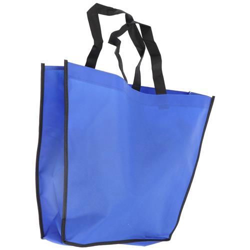 Wholesale BLUE NONWOVEN PP BAG 18x14x4'' 80 GSM 18'' STRAPS