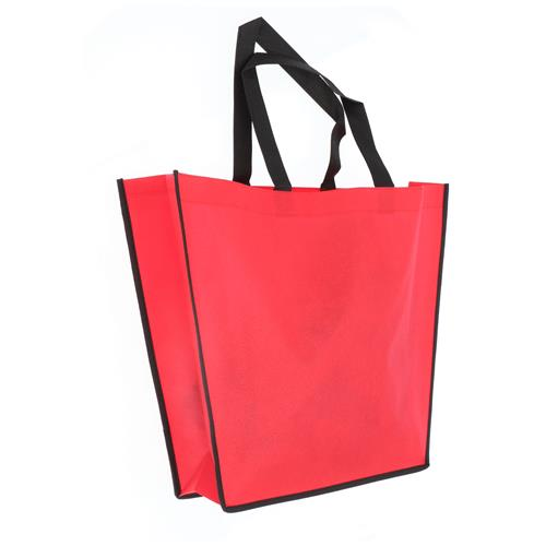 Wholesale RED NONWOVEN PP BAG 18x14x4'' 80 GSM 18'' STRAPS