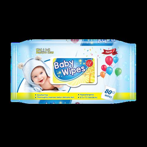 Wholesale 80ct Baby Wipes wtih Blue Cap