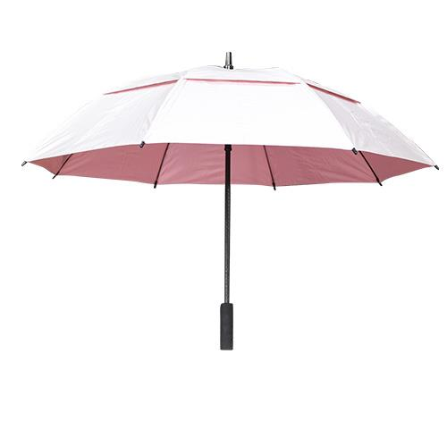 Wholesale 50'' GOLF UMBRELLA SILVER COATED WINDBUSTER & PINK LINING
