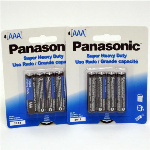 Wholesale Panasonic Heavy Duty AAA Battery 4 Pack