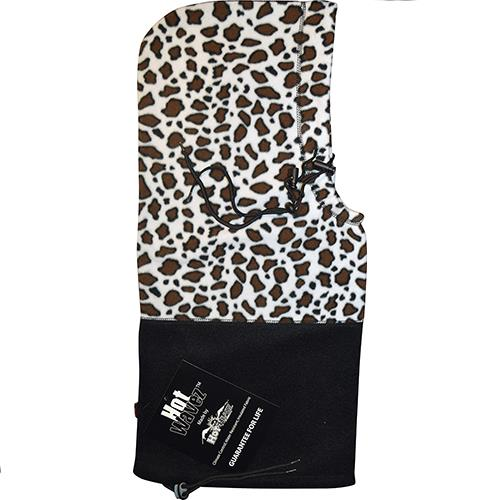 Wholesale Hot Headz Hood, Facemask, Scarf, Beanie, Balaclava and Bag - Black Leopard