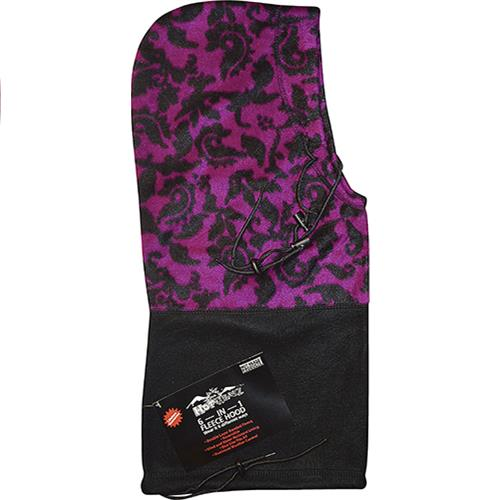 Wholesale Hot Headz 6 in 1 Hood, Facemask, Balaclava, Beanie, Scarf, Bag. Purple Paisley