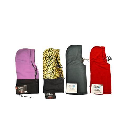 Wholesale 6in1 FLEECE HOOD ASSORTED COLO