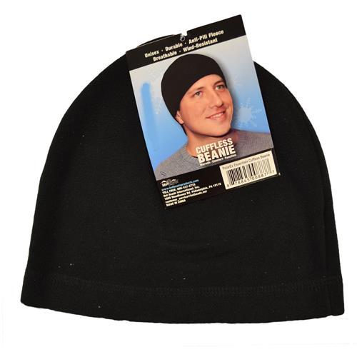 Wholesale BEANIE HAT CUFFLESS BLACK POLAREX