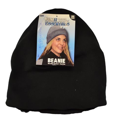 Wholesale BEANIE HAT WITH CUFF BLACK POL