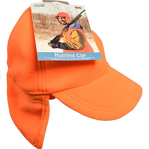 Wholesale PolarEx Fleece Hunting Cap w/Ear Flaps -Orange