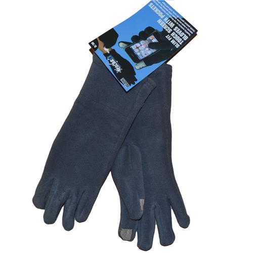 Wholesale WOMENS TEXTING GLOVES-GREY S/MED