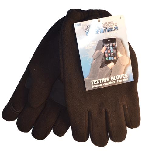 Wholesale MENS TEXTING GLOVES LARGE BLAC