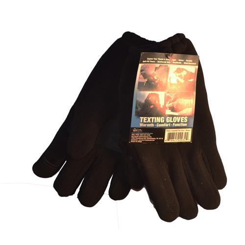 Wholesale MENS TEXTING GLOVES MEDIUM BLA