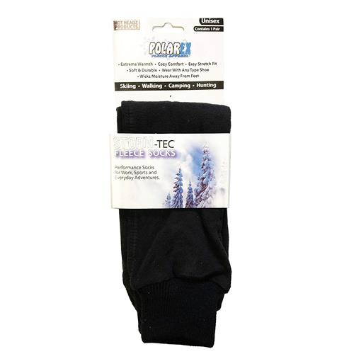 Wholesale FLEECE SOCKS BLACK LARGE STORM-TEC