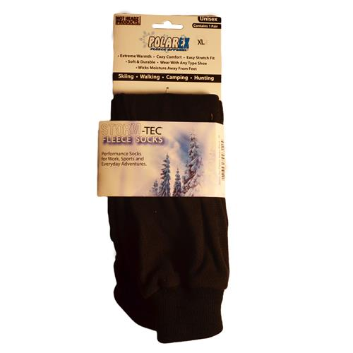 Wholesale FLEECE SOCKS BLACK XL STORM-TEC