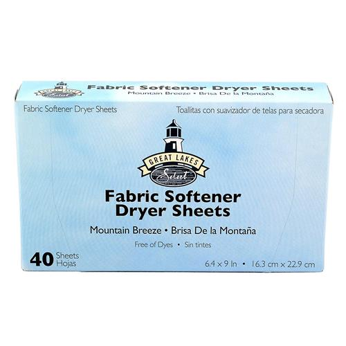 "Wholesale Dryer Sheets by GL Select 6.4""x 9"" Mountain Breez"