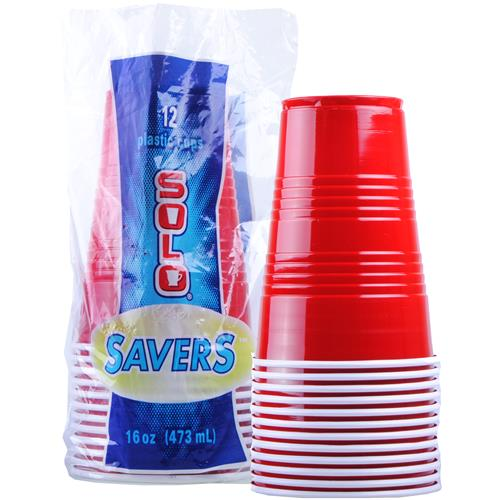 Wholesale Solo Red Party Plastic Cup 16 oz - GLW
