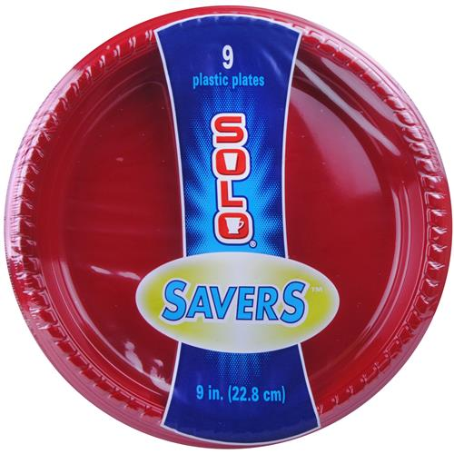 Wholesale Solo Red Party Plate 9""