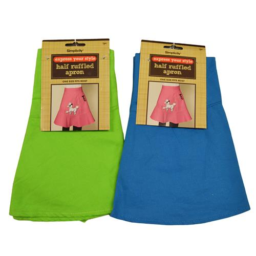 Wholesale HALF RUFFLED APRON
