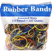 Wholesale 1/2lb BAG OF RUBBER BANDS ASSORTED