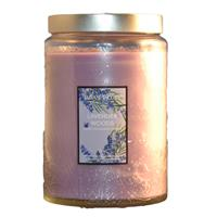 Wholesale 21oz TEXTURED GLASS CANDLE-LAVENDER WOODS