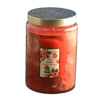 Wholesale 21oz TEXTURED GLASS CANDLE--RED BERRY
