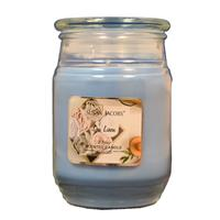 Wholesale 17oz TEXTURED GLASS CANDLE-SPA LINEN