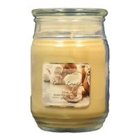 Wholesale 17oz TEXTURED GLASS CANDLE-CASHMERE COCONUT