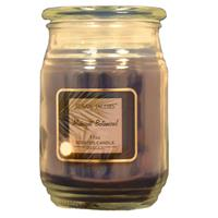Wholesale 17oz TEXTURED GLASS CANDLE-MIDNIGHT BOTANICAL