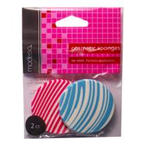 Wholesale 2CT STRIPED COSMETIC SPONGES R