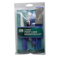 Wholesale 5 PIECE FOOT ESSENTIALS KIT IN POUCH CVS