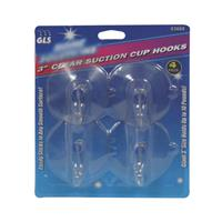 "Wholesale 4pc 3"" CLEAR SUCTION CUP HOOKS"