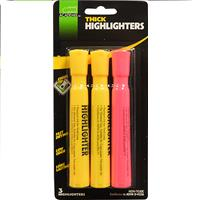 Wholesale HIGHLIGHTER YEL/PNK THICK CHIS