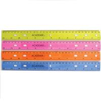 "Wholesale 12"" PLASTIC RULER ASSORTED COL"