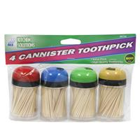 Wholesale Toothpicks 4 canisters.  800 ct total.