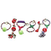 Wholesale ASSORTED ROPE & BALL DOG TOYS