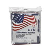 Wholesale 4' x 6' EMBROIDERED USA FLAG