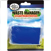 Wholesale 30CT TIE HANDLE PET WASTE BAGS