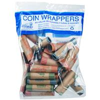 Wholesale 36ct Crimped Assorted Coin Wrappers in Bag