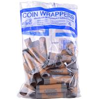 Wholesale Crimped Nickel Coin Wrappers in Bag