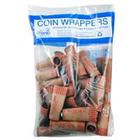 Wholesale Crimped Quarter Coin Wrappers in Bag