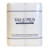 Wholesale VAL-U- PLUS Bath Tissue 2 ply 150 sheets. 4 pack