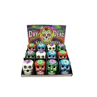 Wholesale Day of the Dead Clay Skulls Assortment
