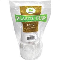 Wholesale Plastic Cups White 16 oz