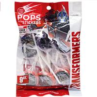 Wholesale 9ct Transformers Pops with Stickers Peg Bag